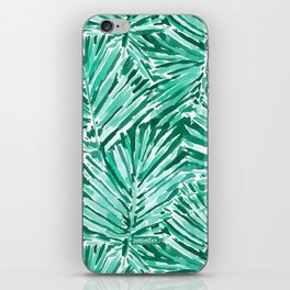 ON VACAY Green Palm Leaves iPhone Skin