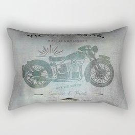 Motorbike Vintage Grunge Poster Rectangular Pillow