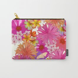 Spring Bouquet White Carry-All Pouch