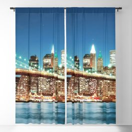Amazing Historic Brooklyn Bridge Manhattan New York City United States Ultra HD Blackout Curtain