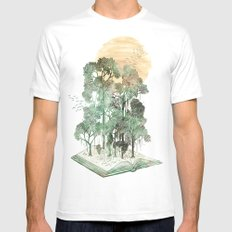 Jungle Book White Mens Fitted Tee MEDIUM