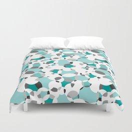 Circle-fiesta bluegreen-white Duvet Cover