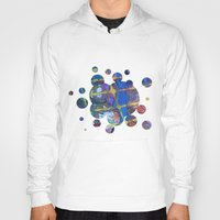 grid Hoodies featuring Grid by Heather Plewes Art