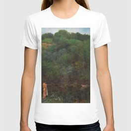 Meditation in Autumn by the Mountain Lake by Karel Vítězslav Masek T-shirt