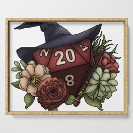 Wizard Class D20 - Tabletop Gaming Dice Serving Tray