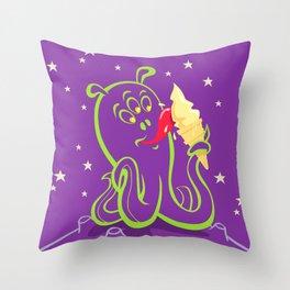 alien ice cream (vector version) Throw Pillow