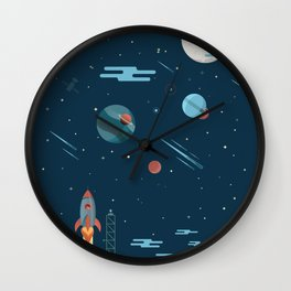 SPACE poster Wall Clock