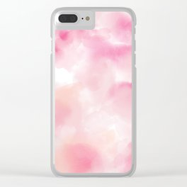 PInk Aura Clear iPhone Case