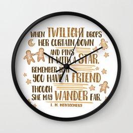 Gingerbread Friends Wall Clock