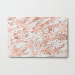 Blush Gold Quartz Metal Print