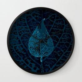 X-ray of a leaf Wall Clock