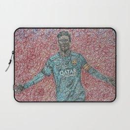 FC Barcelona No.10 Messi fan art By Shree Bhattacharya Laptop Sleeve