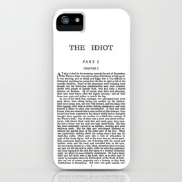 The Idiot Fyodor Dostoevsky First Page iPhone Case