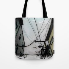 Wires in North Beach San Francisco Tote Bag