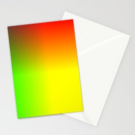 Rainbow red, yellow, and green ombre flame print Stationery Cards