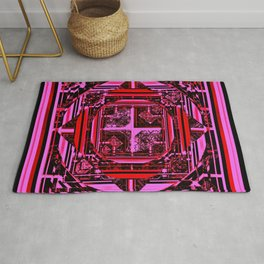looking for something (pink) Rug