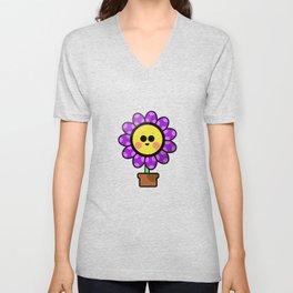 Cute flower Unisex V-Neck