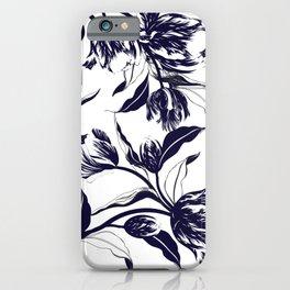 Watercolor flower botanical hand drawn illustration. Vintage pattern background iPhone Case