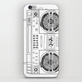 Boooombox iPhone Skin