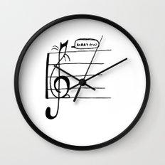 Treble Clef Cat Wall Clock