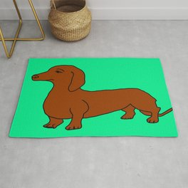 The cute dachsund Rug