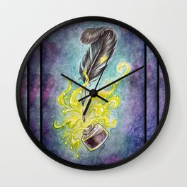Quill & Ink Wall Clock