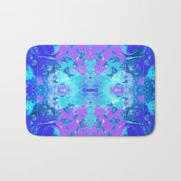 95 - Ice colour abstract pattern Bath Mat