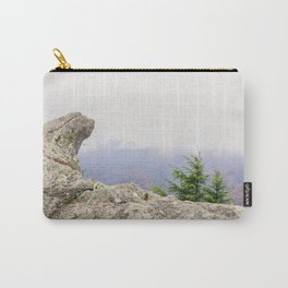 Blowing Rock Mountain and it's beautiful view from the mountain peak into the valley on a partly clo Carry-All Pouch