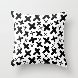 Abstract Plus Sign Modern Pattern Throw Pillow