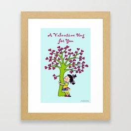 Valentine Hug for you Framed Art Print