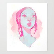 visage - pink Canvas Print
