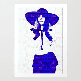 Cara Delevigne: Wide Brimmed Hat Art Print