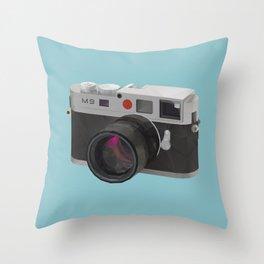 Leica M9 Camera polygon art Throw Pillow