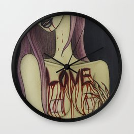 Love Hurts So Good Wall Clock