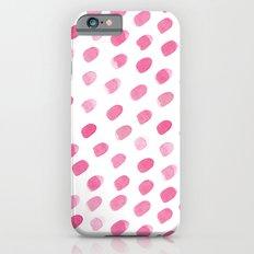 Pink ovals Slim Case iPhone 6s