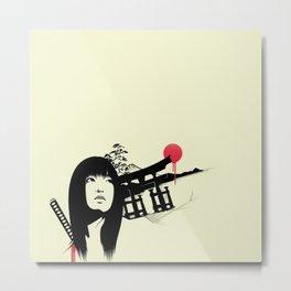 Samurai Woman Metal Print
