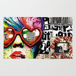 Punk Rock poster Rug