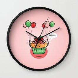 Party Cupcake Wall Clock