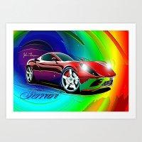 ferrari Art Prints featuring Ferrari by JT Digital Art
