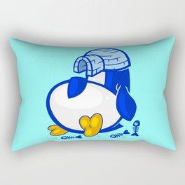 Fat Penguin Rectangular Pillow