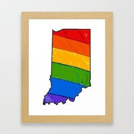 Indiana Pride Framed Art Print