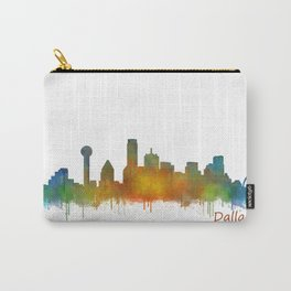 Dallas Texas City Skyline watercolor v02 Carry-All Pouch