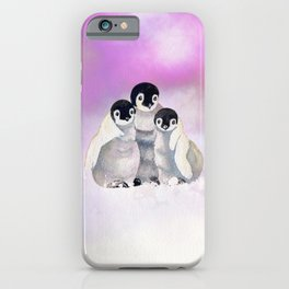 Three Siblings - Penguins  iPhone Case