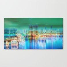 Amsterdam Habor by night Canvas Print
