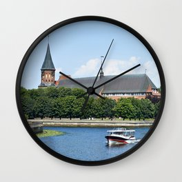 Place Fishing Village - ethnographic center and Cathedral. Kaliningrad Wall Clock