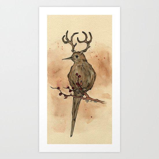 the mysterious deerbird Art Print