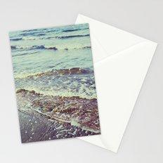 Retro beach. Summer Waves Stationery Cards