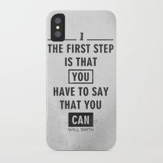 Will Smith quote - Motivational poster iPhone X Slim Case