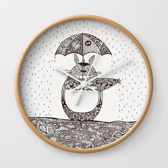 Happy Totoro Wall Clock