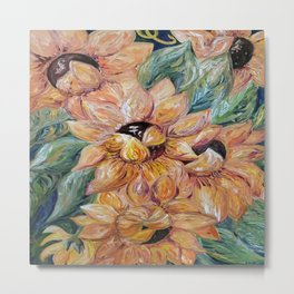 Sunflower Blitz Metal Print